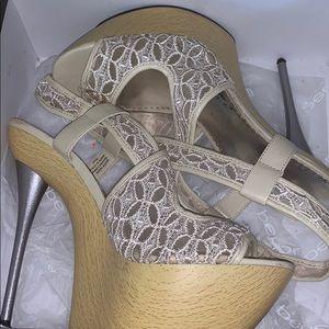 Lace Bebe Heels